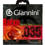Encordoamento Para Baixo Elétrico - 4 Cordas - Giannini - 0.35 - Nickel Round Wound