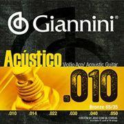 Encordoamento Para Violão Acústico Aço Giannini Geswam 010