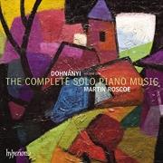 Dohnanyi- Volume One - The Complete Solo Piano Music - Martin Roscoe - Cd Importado