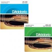 Kit Cordas Para Violão Guitarra Daddario
