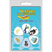 Palheta The Beatles Yellow Submarine - Pacote 6 Unidades