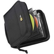 Porta CD's Case Logic CDW-32 Black Nylon CD Wallet-Holds 32 CD's or 16 w/notes-  Porta CDs Importado