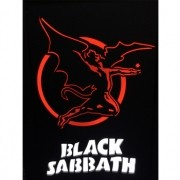 Quadro Led  - Black Sabbath  Red Angel
