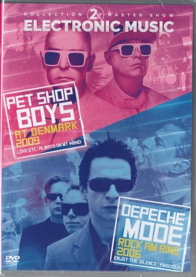 2 X ELETRONIC MUSIC - PET SHOP BOYS AT DENMARK 2009 & DEPECHE MODE ROCK AM RING 2006 - DVD NACIONAL  - Billbox Records
