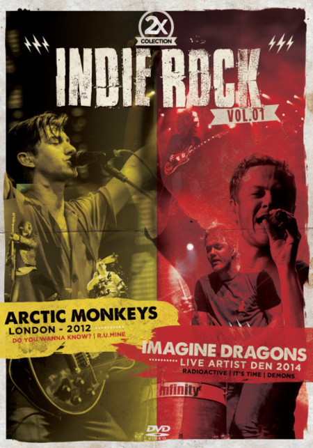 2X INDIE ROCK VOL 01 - ARCTIC MONKEYS LONDON 2013 - IMAGINE DRAGONS LIVE ARTIST DEN 2014 - DVD NACIONAL  - Billbox Records