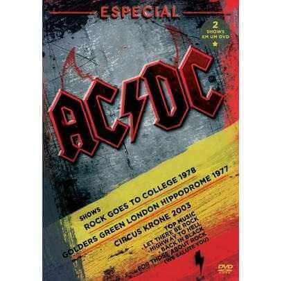 AC/DC ESPECIAL SHOWS - ROCK GOES TO COLLEGE 1978 - GOLDERS GREEN LONDON HIPPODROME 1977 - CIRCUS KRONE 2003 - DVD NACIONAL  - Billbox Records