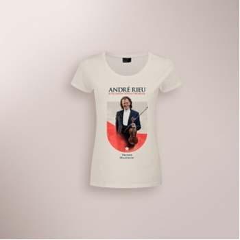 Andre Rieu - Camiseta Maastricht 2017 Feminina Branca - Tamanho GG  - Billbox Records