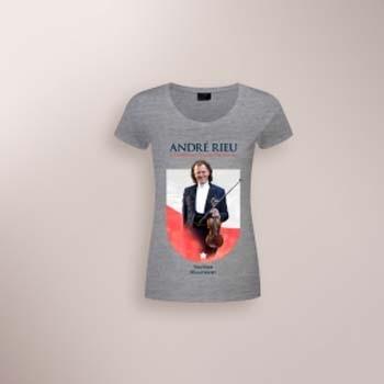Andre Rieu - Camiseta Maastricht 2017 Feminina T-shirt  Cinza Tamanho GG  - Billbox Records