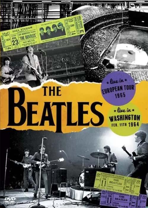 BEATLES EM DOBRO - LIVE IN EUROPEAN TOUR 1965 - LIVE IN WASHINGTON FEB 11TH 1964 - DVD NACINAL  - Billbox Records