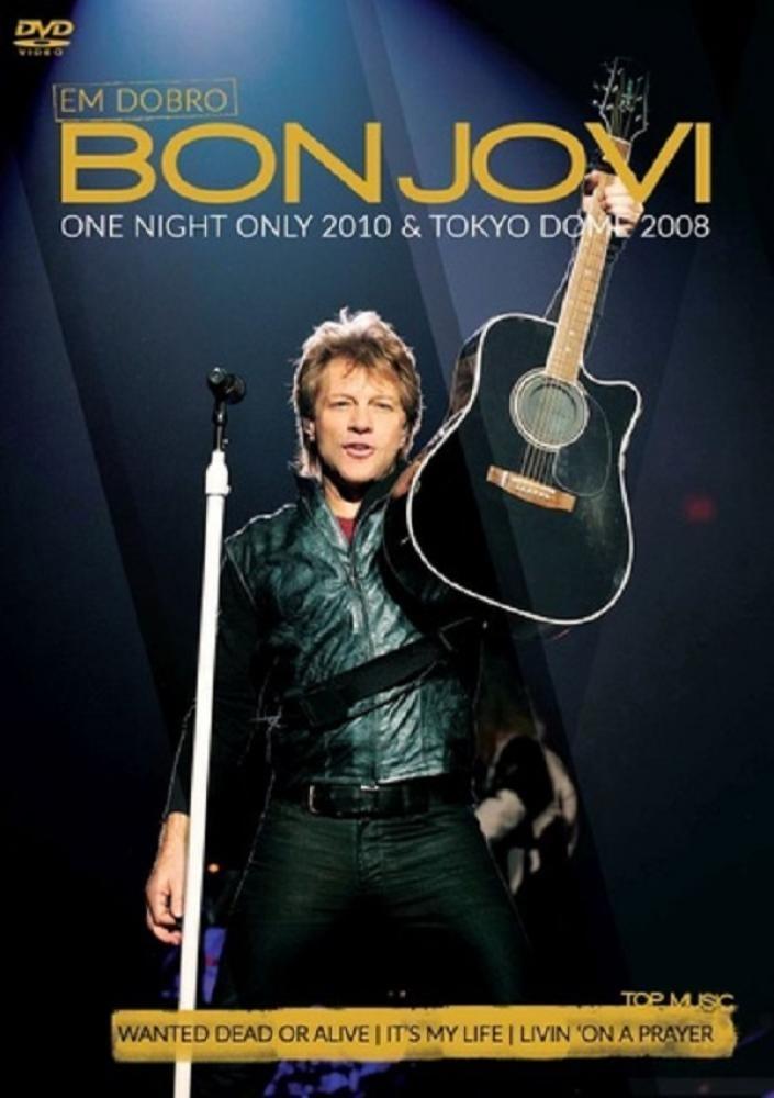 BON JOVI EM DOBRO - ONE NIGHT ONLY 2010 - TOKYO DOME 2008 DVD + CD NACIONAIS  - Billbox Records
