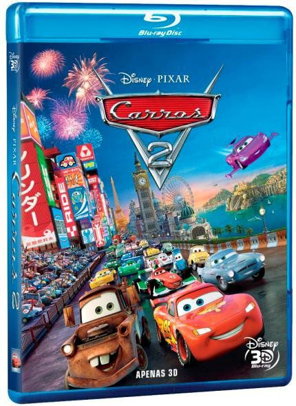 Carros 2 - Blu Ray 3D - Blu Ray Nacional  - Billbox Records