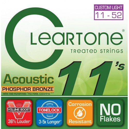 Encordoamento Cleartone Acoustic Phosphor-Bronze Custom Light 11-52  - Billbox Records