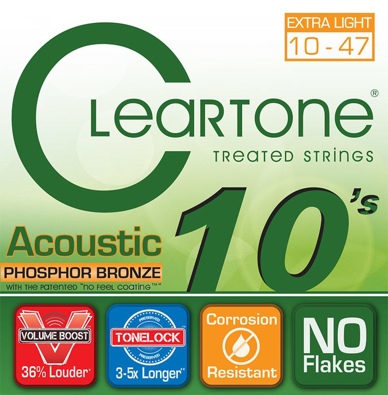 Encordoamento Cleartone Acoustic Phosphor-Bronze Extra Light 10-47  - Billbox Records