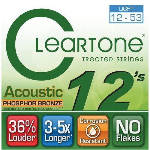 Encordoamento Cleartone Acoustic Phosphor-Bronze Light 12-53  - Billbox Records