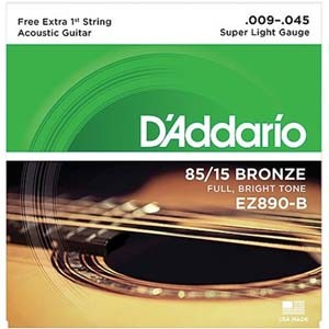 Cordas De Aço  Daddario Para Violão 0.9 - 6 Cordas Ez890   - Billbox Records