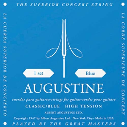 Encordoamento  de Nylon  Classic - Blue High Tension  - Augustine  - Billbox Records