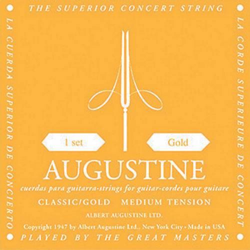 Encordoamento De Nylon Gold - Medium Tension - Augustine  - Billbox Records