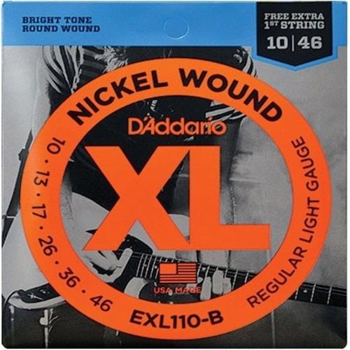 Cordas Para Guitarra Daddario Exl110-B 6 Cordas Regular Light 010 - 046 - Corda Mi Extra  - Billbox Records