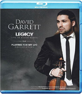David Garrett- Live In Baden Baden  -  Legacy: Playing for My Life - Blu Ray Importado  - Billbox Records