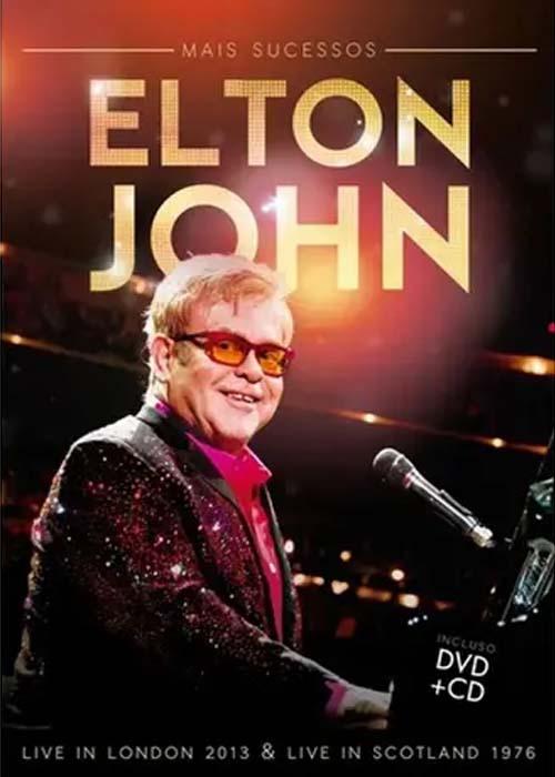 ELTON JOHN - MAIS SUCESSOS  LIVE IN LONDON 2013 - LIVE IN SCOTLAND 1976 - CD + DVD NACIONAL  - Billbox Records