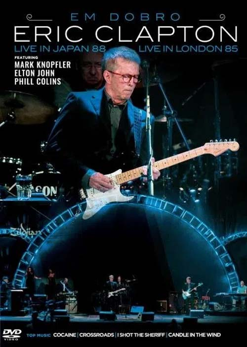 ERIC CLAPTON EM DOBRO - LIVE IN JAPAN WITH FRIENDS - LIVE IN LONDON 1985 - DVD NACIONAL  - Billbox Records