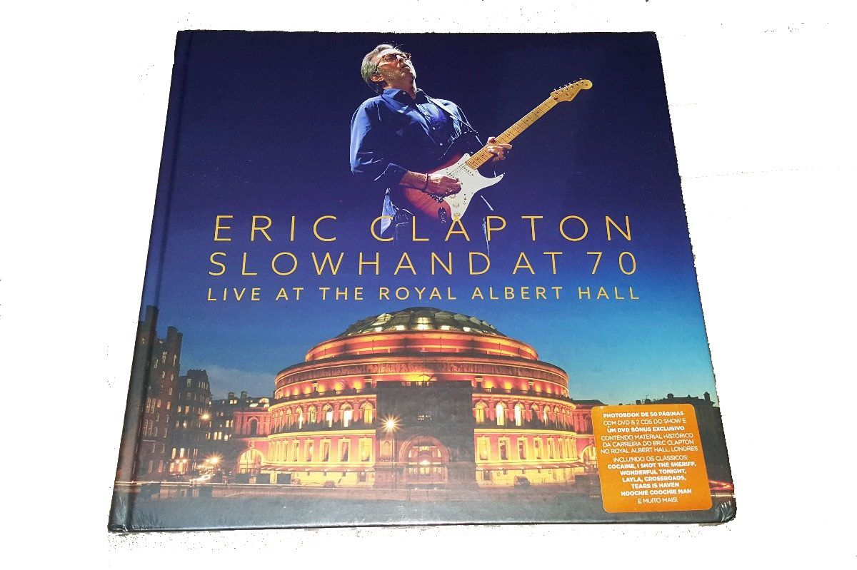 Eric Clapton - Slowhand at 70 Live at the Royal Albert Hall 2 dvds + 2 Cds Importados  - Billbox Records