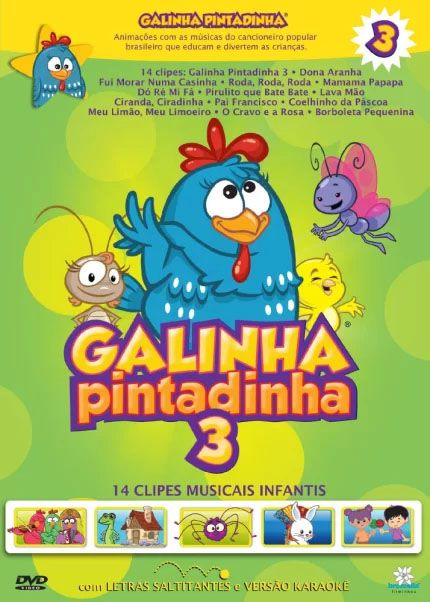 Galinha Pintadinha - Volume 3 - Blu Ray Nacional  - Billbox Records