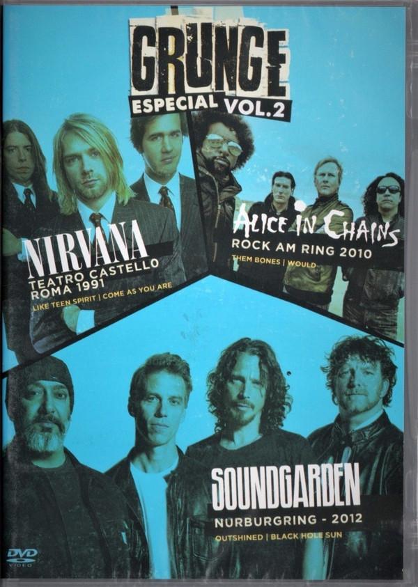 GRUNGE VOL 02  NIRVANA, ALICE IN CHAINS E SOUNDGARDEN DVD NACIONAL  - Billbox Records