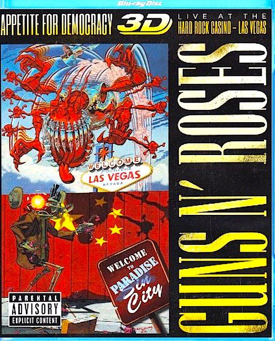 Guns N Roses - Appetite For Democracy 3d - Blu Ray Importado  - Billbox Records