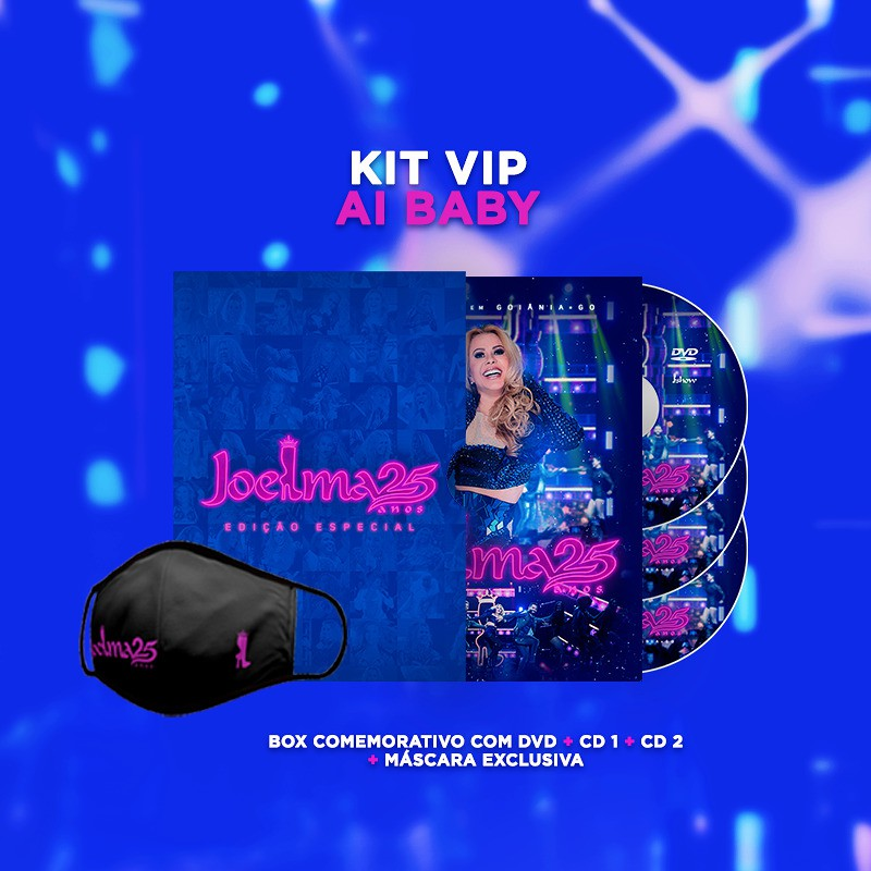 Joelma 25 Anos - Kit VIP Ai Baby - 2 Cds + Dvd Nacionais  - Billbox Records
