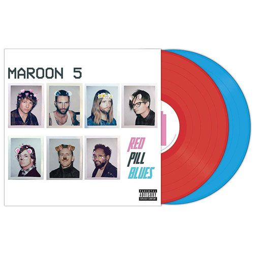 Maroon 5 / Red Pill Blues Colored Vinyl, Red, Blue - 2 Lps Imortados  - Billbox Records