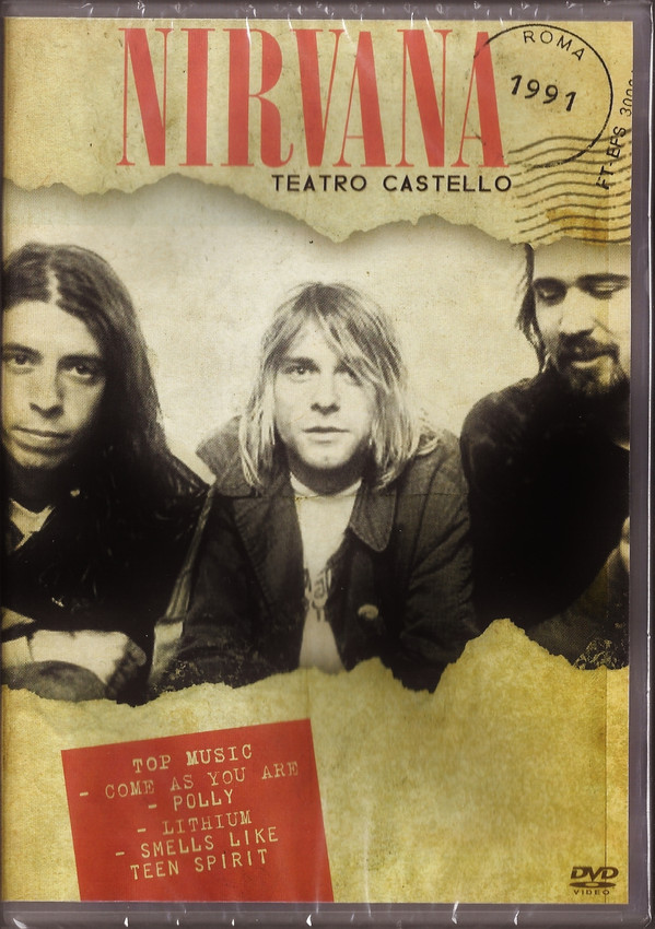 NIRVANA TEATRO CASTELLO - ROMA 1991 - DVD NACIONAL  - Billbox Records