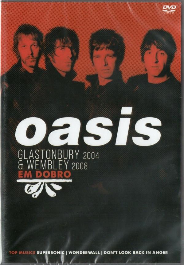 OASIS EM DOBRO - GLASTONBURY 2004 - WEMBLEY 2008 - DVD NACIONAL  - Billbox Records