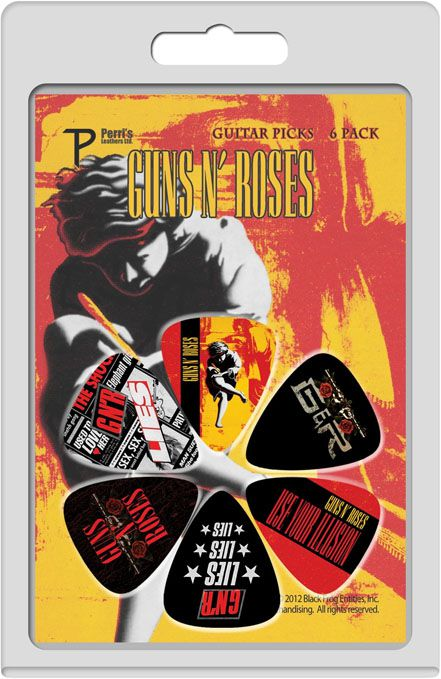 Palheta Guns N Roses - Pacote 6 Unidades  - Billbox Records