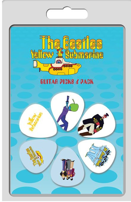 Palheta The Beatles Yellow Submarine - Pacote 6 Unidades  - Billbox Records