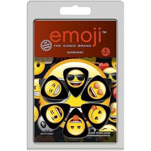 Palhetas Emoji Pacote 6 Unidades  - Billbox Records