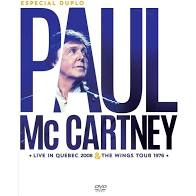 PAUL MCCARTNEY ESPECIAL DUPLO - LIVE IN QUEBEC 2008 - THE WINGS TOUR 1976 - DVD NACIONAL  - Billbox Records