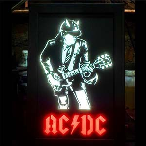 Quadro Led  - ACDC Angus  - Billbox Records