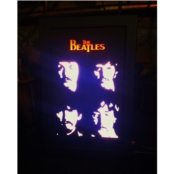 Quadro Led - Beatles  4ever  - Billbox Records