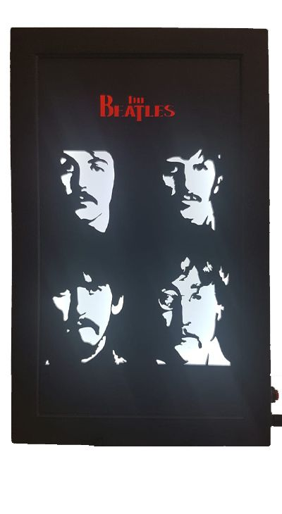 Quadro Led - Beatles  4ever  - Billbox Records