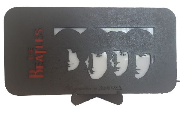 Quadro Led - Beatles  4ever - Medio  - Billbox Records