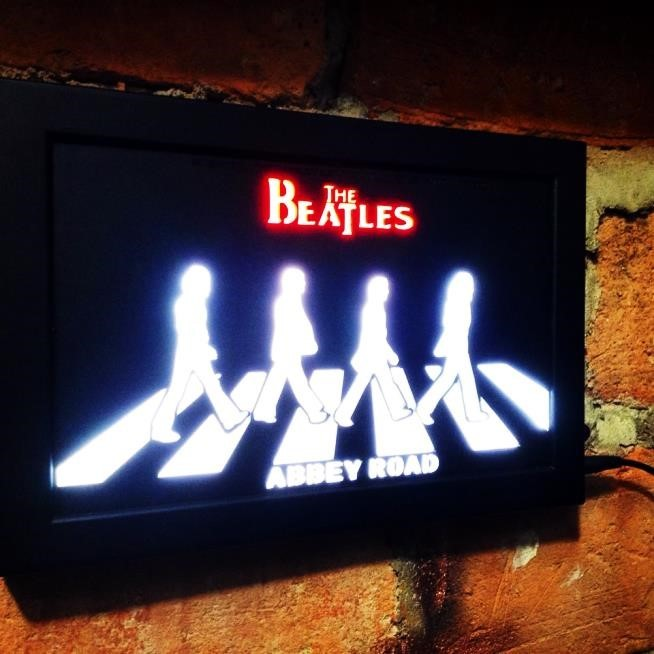 Quadro Led  - Beatles Abbey Road  - Billbox Records