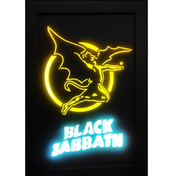Quadro Led  - Black Sabbath  Yellow Angel  - Billbox Records