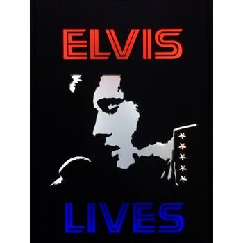 Quadro Led  - Elvis Lives  anos 70  - Billbox Records