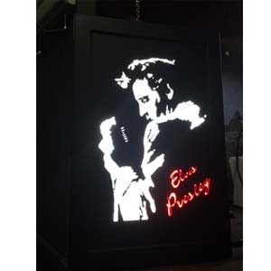 Quadro Led  - Elvis Perfil  56 c/ Microfone  - Billbox Records