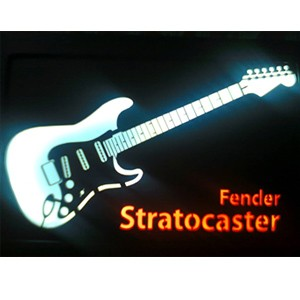 Quadro Led  - Guitar Fender Stratocaster  - Billbox Records