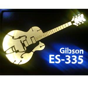 Quadro Led  - Guitar Gibson ES 335  - Billbox Records