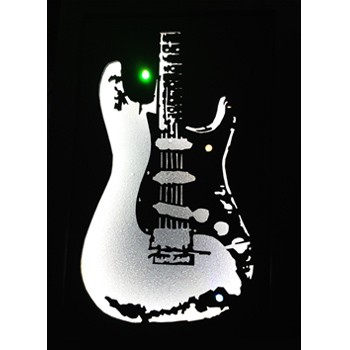 Quadro Led  - Guitar SRV  - Billbox Records