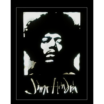 Quadro Led  - Jimi Hendrix  - Billbox Records