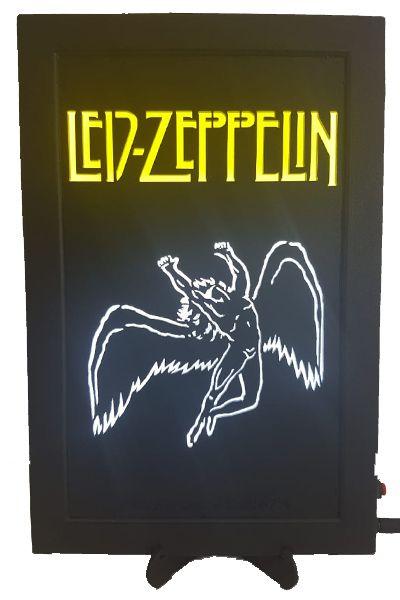Quadro Led  - Led Zeppelin - Angel  - Billbox Records